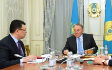 Meeting with Energy Minister Kanat Bozumbaev