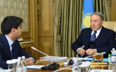 Meeting with Chairman of Board of JSC National Holding Baiterek Kuandyk Bishimbayev