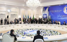 Participation in the plenary session of the Fifth Caspian Summit