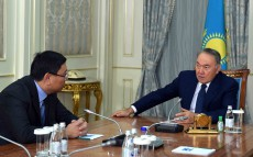 "Meeting with ""Baiterek"" National Holding Board Chairman Yerbolat Dosayev"