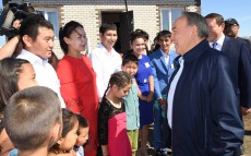 Acquaintance with house construction progress in the village of Ilyichevka